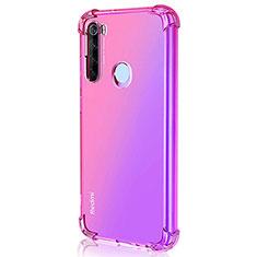 Silikon Schutzhülle Ultra Dünn Flexible Tasche Durchsichtig Transparent S03 für Xiaomi Redmi Note 8T Pink