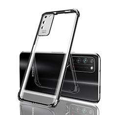 Silikon Schutzhülle Ultra Dünn Flexible Tasche Durchsichtig Transparent S04 für Huawei Honor X10 5G Schwarz