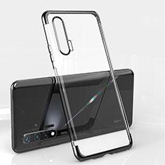 Silikon Schutzhülle Ultra Dünn Flexible Tasche Durchsichtig Transparent S04 für Huawei Nova 6 5G Schwarz