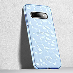 Silikon Schutzhülle Ultra Dünn Flexible Tasche Durchsichtig Transparent S04 für Samsung Galaxy S10 5G Schwarz