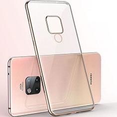 Silikon Schutzhülle Ultra Dünn Flexible Tasche Durchsichtig Transparent S06 für Huawei Mate 20 X 5G Gold