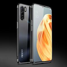 Silikon Schutzhülle Ultra Dünn Flexible Tasche Durchsichtig Transparent Z01 für Oppo Find X2 Lite Schwarz