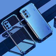 Silikon Schutzhülle Ultra Dünn Flexible Tasche Durchsichtig Transparent Z01 für Oppo Reno5 5G Blau
