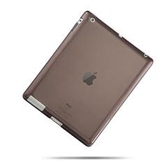Silikon Schutzhülle Ultra Dünn Handyhülle Hülle Durchsichtig Transparent für Apple iPad 3 Grau