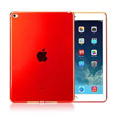 Silikon Schutzhülle Ultra Dünn Handyhülle Hülle Durchsichtig Transparent für Apple iPad Air 2 Rot