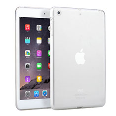 Silikon Schutzhülle Ultra Dünn Handyhülle Hülle Durchsichtig Transparent für Apple iPad Mini Weiß