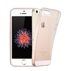 Silikon Schutzhülle Ultra Dünn Handyhülle Hülle Durchsichtig Transparent für Apple iPhone 5 Rosa