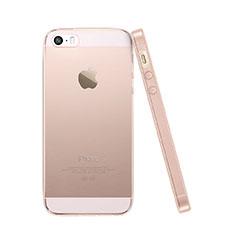 Silikon Schutzhülle Ultra Dünn Handyhülle Hülle Durchsichtig Transparent für Apple iPhone 5S Rosa