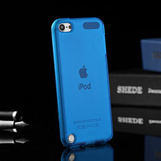 Silikon Schutzhülle Ultra Dünn Handyhülle Hülle Durchsichtig Transparent für Apple iPod Touch 5 Blau