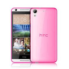Silikon Schutzhülle Ultra Dünn Handyhülle Hülle Durchsichtig Transparent für HTC Desire 626 Rosa