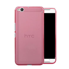 Silikon Schutzhülle Ultra Dünn Handyhülle Hülle Durchsichtig Transparent für HTC One X9 Rosa