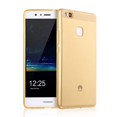 Silikon Schutzhülle Ultra Dünn Handyhülle Hülle Durchsichtig Transparent für Huawei G9 Lite Gold
