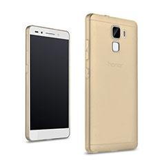 Silikon Schutzhülle Ultra Dünn Handyhülle Hülle Durchsichtig Transparent für Huawei Honor 7 Dual SIM Gold