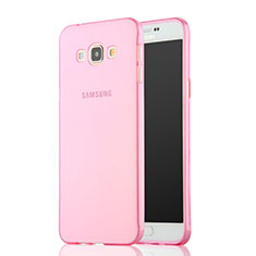 Silikon Schutzhülle Ultra Dünn Handyhülle Hülle Durchsichtig Transparent für Samsung Galaxy A7 SM-A700 Rosa