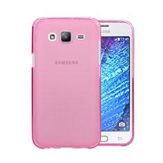 Silikon Schutzhülle Ultra Dünn Handyhülle Hülle Durchsichtig Transparent für Samsung Galaxy J5 SM-J500F Rosa