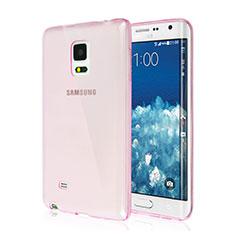 Silikon Schutzhülle Ultra Dünn Handyhülle Hülle Durchsichtig Transparent für Samsung Galaxy Note Edge SM-N915F Rosa