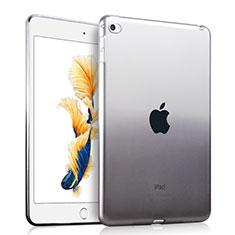 Silikon Schutzhülle Ultra Dünn Hülle Durchsichtig Farbverlauf für Apple iPad Air 2 Grau