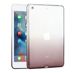 Silikon Schutzhülle Ultra Dünn Hülle Durchsichtig Farbverlauf für Apple iPad Mini 3 Grau