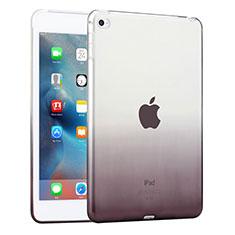 Silikon Schutzhülle Ultra Dünn Hülle Durchsichtig Farbverlauf für Apple iPad Mini 4 Grau