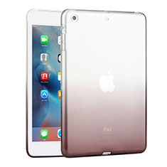Silikon Schutzhülle Ultra Dünn Hülle Durchsichtig Farbverlauf für Apple iPad Mini Grau