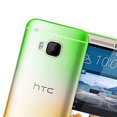 Silikon Schutzhülle Ultra Dünn Hülle Durchsichtig Farbverlauf für HTC One M9 Grün