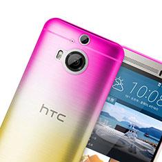 Silikon Schutzhülle Ultra Dünn Hülle Durchsichtig Farbverlauf für HTC One M9 Plus Rosa