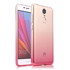 Silikon Schutzhülle Ultra Dünn Hülle Durchsichtig Farbverlauf für Huawei Enjoy 6 Rosa