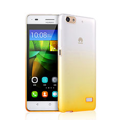 Silikon Schutzhülle Ultra Dünn Hülle Durchsichtig Farbverlauf für Huawei G Play Mini Gelb