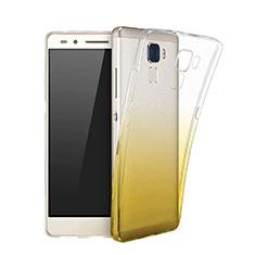 Silikon Schutzhülle Ultra Dünn Hülle Durchsichtig Farbverlauf für Huawei GT3 Gelb