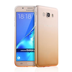 Silikon Schutzhülle Ultra Dünn Hülle Durchsichtig Farbverlauf für Samsung Galaxy J7 (2016) J710F J710FN Gelb