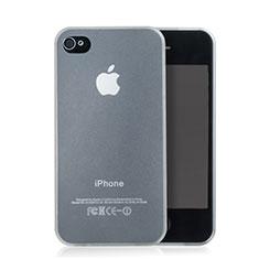 Silikon Schutzhülle Ultra Dünn Hülle Durchsichtig Matt für Apple iPhone 4 Weiß
