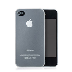 Silikon Schutzhülle Ultra Dünn Hülle Durchsichtig Matt für Apple iPhone 4S Weiß