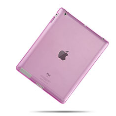 Silikon Schutzhülle Ultra Dünn Hülle Durchsichtig Transparent für Apple iPad 3 Rosa