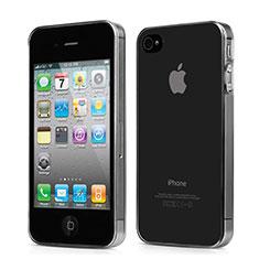 Silikon Schutzhülle Ultra Dünn Hülle Durchsichtig Transparent für Apple iPhone 4 Grau