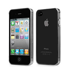 Silikon Schutzhülle Ultra Dünn Hülle Durchsichtig Transparent für Apple iPhone 4S Grau