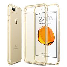 Silikon Schutzhülle Ultra Dünn Hülle Durchsichtig Transparent für Apple iPhone 8 Plus Gold