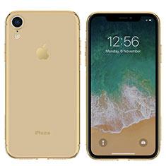Silikon Schutzhülle Ultra Dünn Hülle Durchsichtig Transparent für Apple iPhone XR Gold