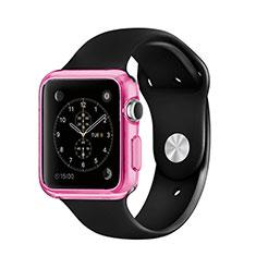 Silikon Schutzhülle Ultra Dünn Hülle Durchsichtig Transparent für Apple iWatch 3 38mm Rosa
