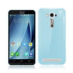 Silikon Schutzhülle Ultra Dünn Hülle Durchsichtig Transparent für Asus Zenfone 2 Laser ZE500KL ZE550KL Blau