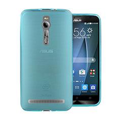 Silikon Schutzhülle Ultra Dünn Hülle Durchsichtig Transparent für Asus Zenfone 2 ZE551ML ZE550ML Blau