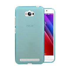 Silikon Schutzhülle Ultra Dünn Hülle Durchsichtig Transparent für Asus Zenfone Max ZC550KL Blau