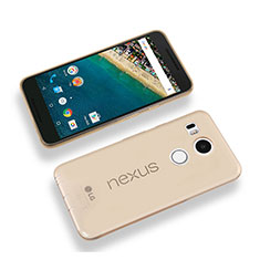 Silikon Schutzhülle Ultra Dünn Hülle Durchsichtig Transparent für Google Nexus 5X Gold