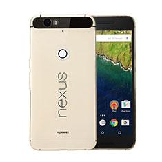 Silikon Schutzhülle Ultra Dünn Hülle Durchsichtig Transparent für Google Nexus 6P Gold