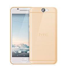 Silikon Schutzhülle Ultra Dünn Hülle Durchsichtig Transparent für HTC One A9 Gold
