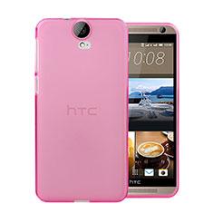 Silikon Schutzhülle Ultra Dünn Hülle Durchsichtig Transparent für HTC One E9 Plus Rosa