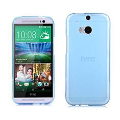 Silikon Schutzhülle Ultra Dünn Hülle Durchsichtig Transparent für HTC One M8 Blau