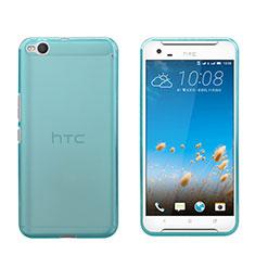 Silikon Schutzhülle Ultra Dünn Hülle Durchsichtig Transparent für HTC One X9 Blau
