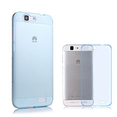 Silikon Schutzhülle Ultra Dünn Hülle Durchsichtig Transparent für Huawei Ascend G7 Blau