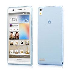 Silikon Schutzhülle Ultra Dünn Hülle Durchsichtig Transparent für Huawei Ascend P6 Blau