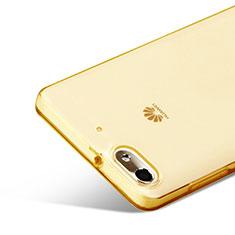 Silikon Schutzhülle Ultra Dünn Hülle Durchsichtig Transparent für Huawei G Play Mini Gold